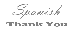 Spanish Thank You