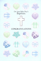 3809 - $3.49 Retail Each - Baby Baptism Boy PKD 6