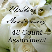 4032 - 48 Ct Wedding & Anniversary Assortment PKD 6 discounted an extra 25% off wholesale