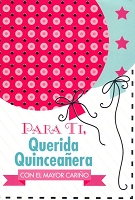 6396 - $2.80 Retail Each - Wrapped Spanish 15th Birthday Card PKD 6