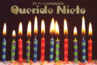 6744 - $2.80 Retail Each Wrapped Spanish Cards - Birthday Grandson PKD 6