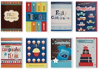 PC3008 - $3.49 Handmade Hispanic Birthday Card Assort. 8 designs - Total 96