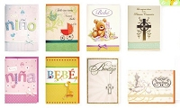 PC3007 - $3.49 Handmade Hispanic Baby Card Assort. 8 designs  - Total 96