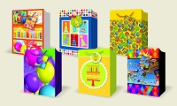 VA1001 - Birthday Large Gift Bag Assort - 72 in assortment - 12 each pf 6 designs