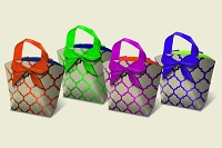 PR1001 - Premium Large Quatrefoil Gift Purse Assort - 48 in assortment - 12 each of 4 designs
