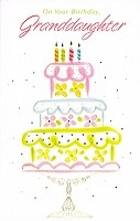 2914 - $2.95 Retail Each - Birthday Granddaughter Religious PKD 6
