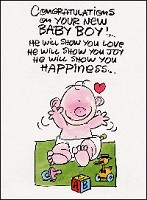 3614 - $1.85 Retail Each - New Baby Boy Funny PKD 6
