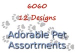 6060 - 12 Pet Card Assortment PKD 6 with special discount