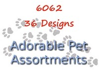 6062 - 36 Pet Card Assortment PKD 6 with special discount