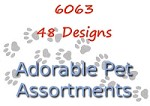 6063 - 48 Pet Card Assortment PKD 6 with special discount