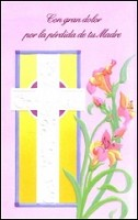 6445 - $2.00 Retail Each - Spanish Sympathy Loss Of Mother PKD 6