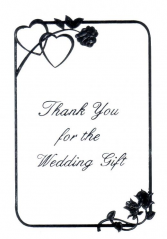 6521 - $4.25 Retail Each - Thank You Wedding Gift Notecards PKD 6