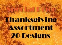 THG20 - 20 designs Thanksgiving Cards PKD 6 - 25% extra discount at check-out