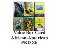 BCV1007 - African-American Value Boxed Cards  - PKD 36