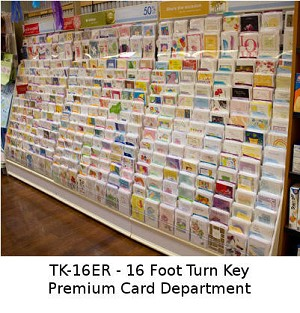 TK-16ER - Turn-Key of 16 Feet of Premium Greeting Cards complete with free fixtures only $3744