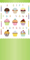 01343 - $2.80 Retail Each - Money Holder Birthday Cards PKD 6