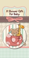 Show0001 - $2.80 Retail Each - New Baby Shower Money Holder Greeting Cards - English Language - value - wholesale units of 6 cards