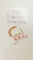 01853 - $2.80 Retail Each - Money Holder Greeting Cards Baby Christening PKD 6