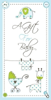 Baby0005 - $2.80 Retail Each - New Baby Money Holder Greeting Cards - English Language - value - wholesale units of 6 cards