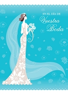 6764 - $2.80 Retail Each - Wrapped Spanish Cards - Wedding PKD 6
