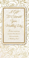 wed0010 - $2.80 Retail Each - Wedding Money Holder Greeting Cards - English Language - value - wholesale units of 6 cards