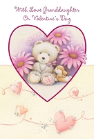val11027 - $2.80 Retail Each - Valentine's Day Granddaughter Greeting Cards - English Language - wholesale units of 6 cards