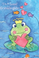 val11030 - $2.80 Retail Each - Valentine's Day Granddaughter Juvenile Greeting Cards - English Language - wholesale units of 6 cards
