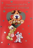 val11034 - $2.80 Retail Each - Valentine's Day Grandmother & Grandfather Juvenile Greeting Cards - English Language - wholesale units of 6 cards