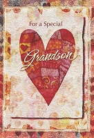 val11050 - $2.80 Retail Each - Valentine's Day Grandson Greeting Cards - English Language - wholesale units of 6 cards