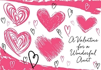 val11061 - $2.80 Retail Each - Valentine's Day Aunt Greeting Cards - English Language - wholesale units of 6 cards