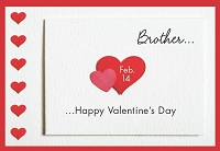 val11062 - $2.80 Retail Each - Valentine's Day Brother Greeting Cards - English Language - wholesale units of 6 cards