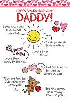 val11064 - $2.80 Retail Each - Valentine's Day Daddy Greeting Cards - English Language - wholesale units of 6 cards