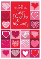 val11065 - $2.80 Retail Each - Valentine's Day Daughter & Family Greeting Cards - English Language - wholesale units of 6 cards