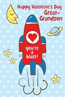 val11066 - $2.80 Retail Each - Valentine's Day Great Grandson Juvenile Greeting Cards - English Language - wholesale units of 6 cards