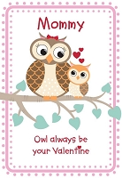 val11067 - $2.80 Retail Each - Valentine's Day Mommy Greeting Cards - English Language - wholesale units of 6 cards
