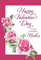 val11069 - $2.80 Retail Each - Valentine's Day Mother Greeting Cards - English Language - wholesale units of 6 cards