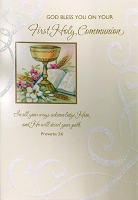 CCGC022 - $2.80 Retail Each - Communion Religious Greeting Cards - Value cards - wholesale units of 6 cards