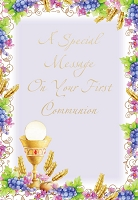 CCGC024 - $2.80 Retail Each - Communion Religious Greeting Cards - Value cards - wholesale units of 6 cards