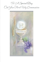 CCGC026 - $2.80 Retail Each - Communion Boy Greeting Cards - Value cards - wholesale units of 6 cards