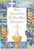 CCGC029 - $2.80 Retail Each - Communion Son Greeting Cards - Value cards - wholesale units of 6 cards