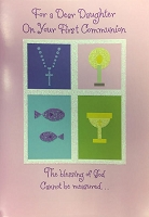 CCGC030 - $2.80 Retail Each - Communion Daughter Greeting Cards - Value cards - wholesale units of 6 cards