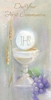 CCGC045 - $2.80 Retail Each - Communion Money Holder Greeting Cards - Value cards - wholesale units of 6 cards