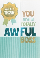 BOSS003 - $3.99 Retail Each - Boss's Day Humor From All Greeting Cards Pkd 3