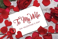 val11096 - $3.99 Retail Each - Valentine's Day Wife Greeting Cards - English Language - Premium - wholesale units of 3 cards