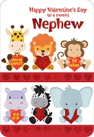 val11001 - $3.99 Retail Each - Valentine Nephew Greeting Cards - English Language - wholesale units of 3 cards