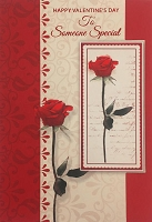 val11101 - $3.99 Retail Each - Valentine's Day Someone Special Greeting Cards - English Language - Premium - wholesale units of 3 cards