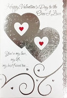 val11009 - $3.99 Retail Each - Valentine General Love Greeting Cards - English Language - wholesale units of 3 cards