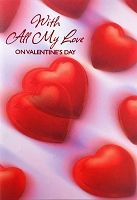 val11010 - $3.99 Retail Each - Valentine General Love Greeting Cards - English Language - wholesale units of 3 cards