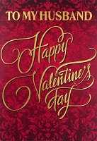 val11110 - $3.99 Retail Each - Valentine's Day Husband Greeting Cards - English Language - Premium - wholesale units of 3 cards