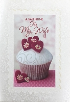 val11111 - $3.99 Retail Each - Valentine's Day Wife Greeting Cards - English Language - Premium - wholesale units of 3 cards